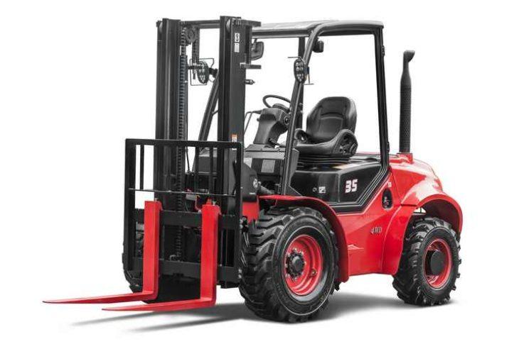 Внедорожный дизельный вилочный погрузчик 3.5 тонны 4WD