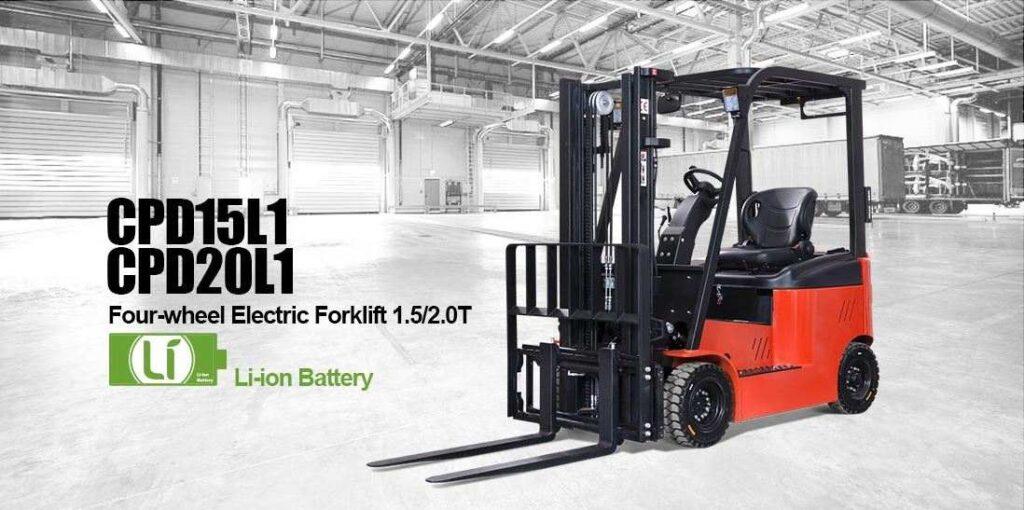 Первый в мире противовесный вилочный грузовик на Li-Ion